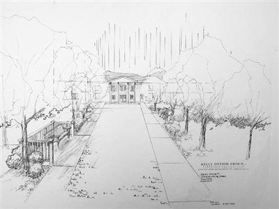 Conceptual plan - entrance - retirement community.