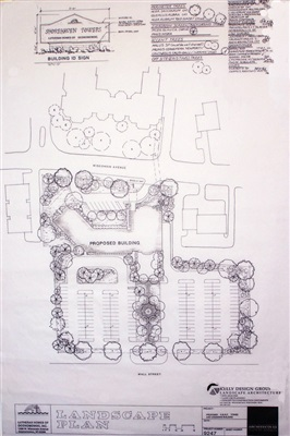 Conceptual plan for the entry to a retirement home.