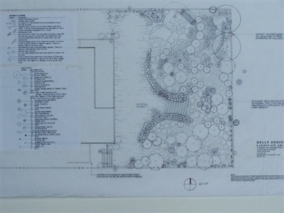 Second in a series of conceptual plans for planting, grading, and stormwater management, small private residence.