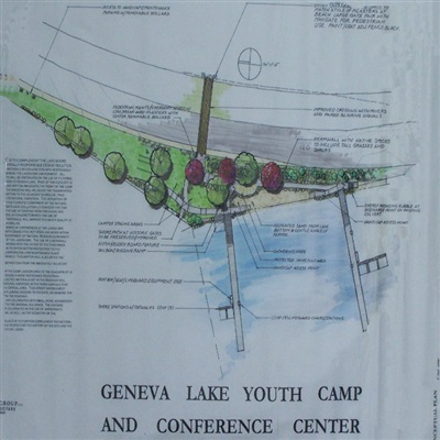 Plan view of Lake Geneva Youth Camp and Conference Center, approved conceptual master plan.