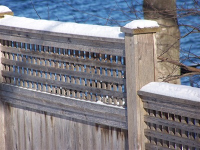 Custom fence detail, private residence